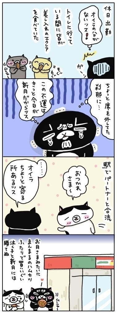 自分の思い通りに物事が進まない時は、全面降伏。休んでいいタイミングだと諦めて、今日はもう寝ようと思います。  「明日の朝すら、オイラは寝坊してやるッスよ!」by黒猫クインシー
