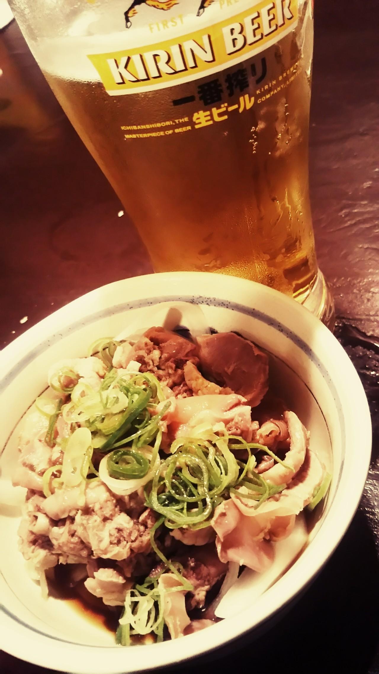 ・生ビール  ・酢モツ