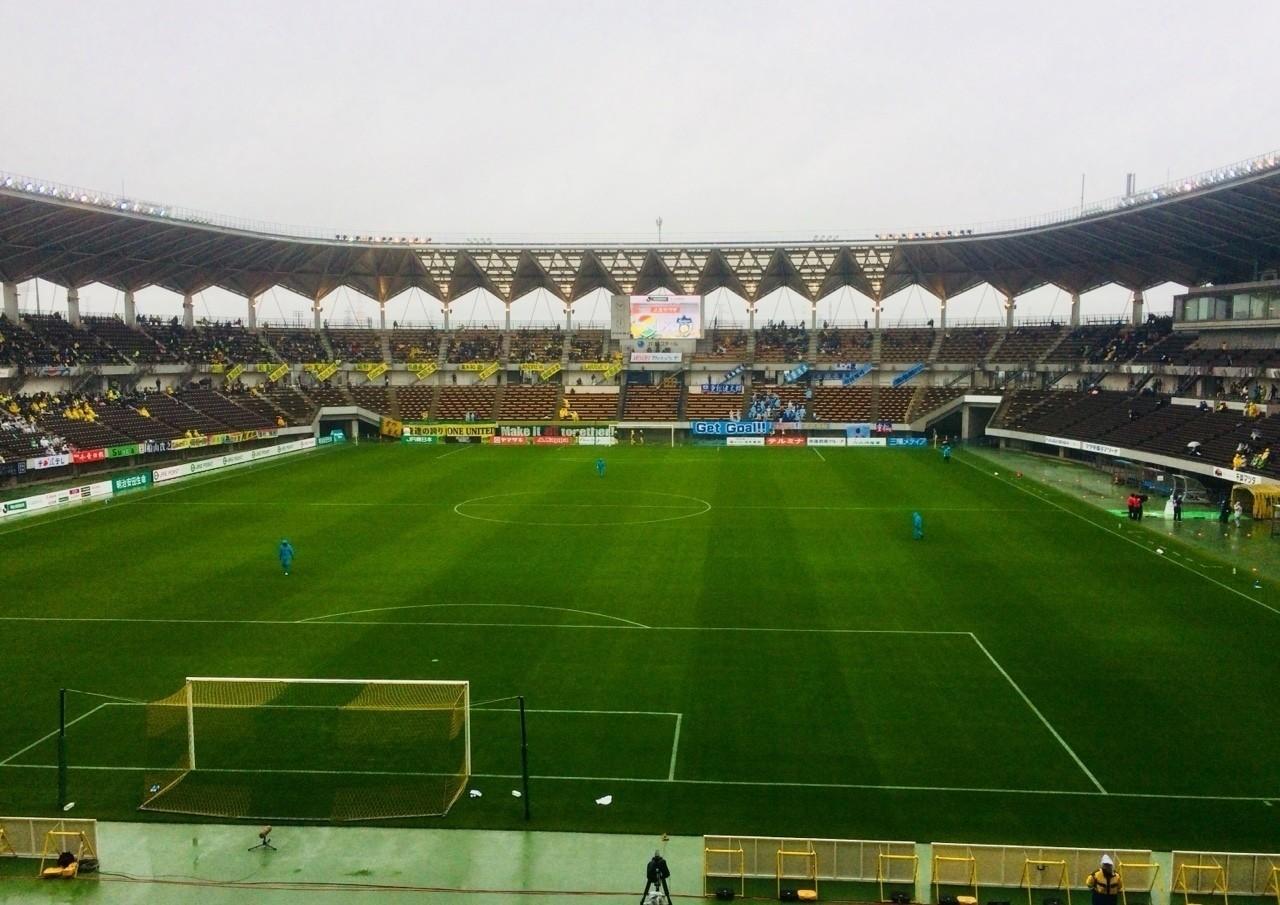 雨模様のフクアリ 試合前