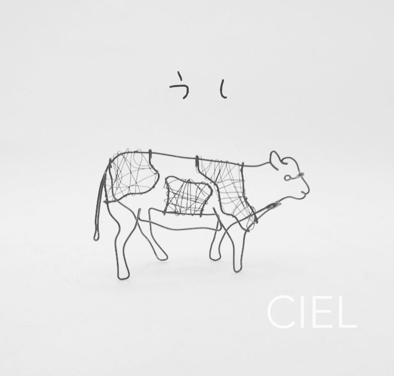 #wire #wirework #wireart #Ciel_wire #牛 #動物 #ホルスタイン  ミルクチョコレートに牛が書いてあって、牛可愛い!と思って作ってみました。