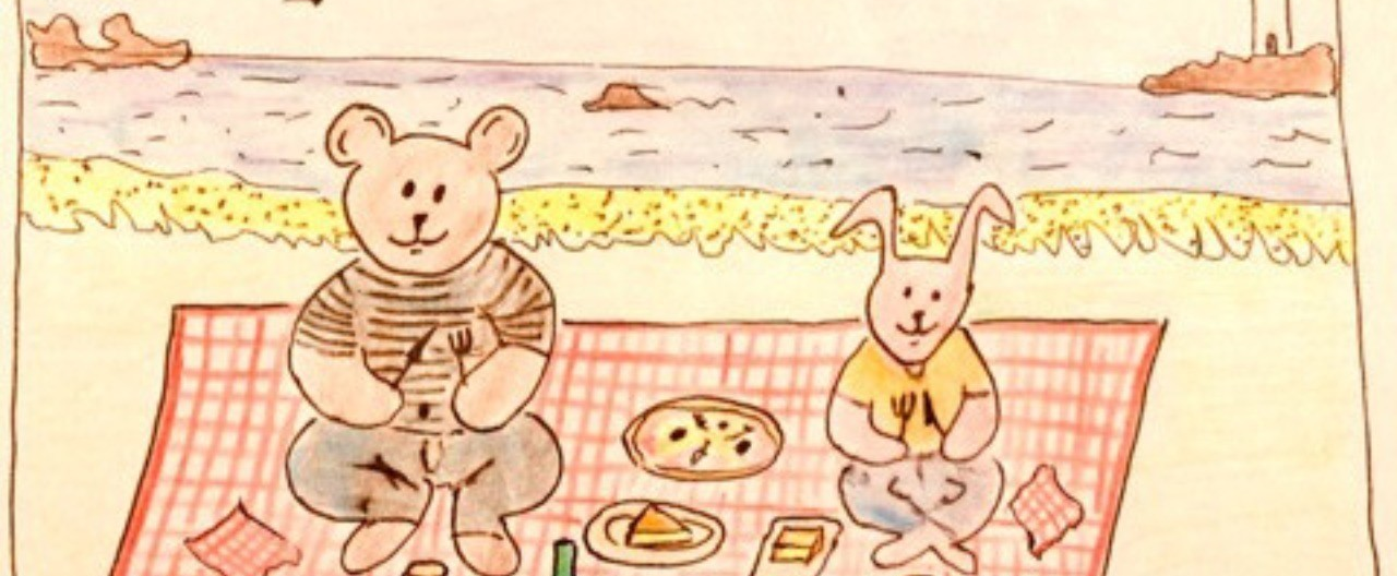 小島の海辺でピクニック|ミカリ...