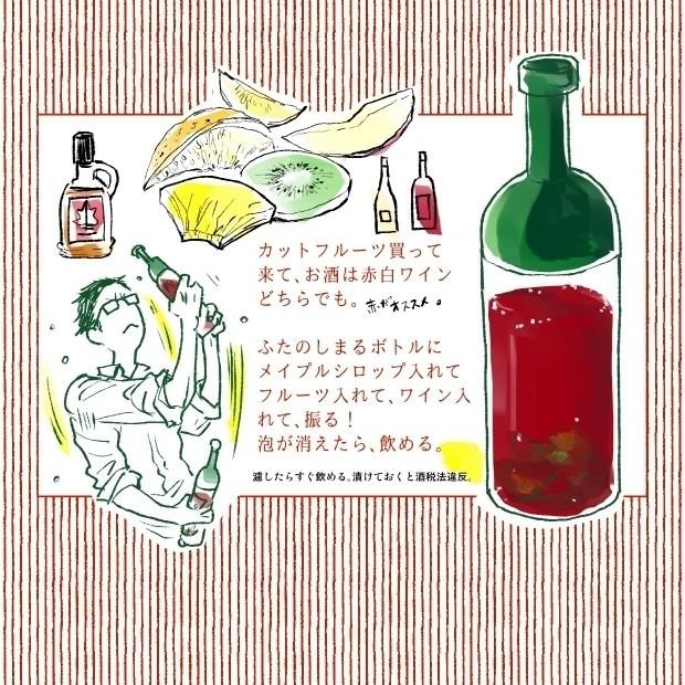 特に赤ワインは、がっしゃがっしゃ振るとおいしい。首痛めたから、今、振られへんねん。