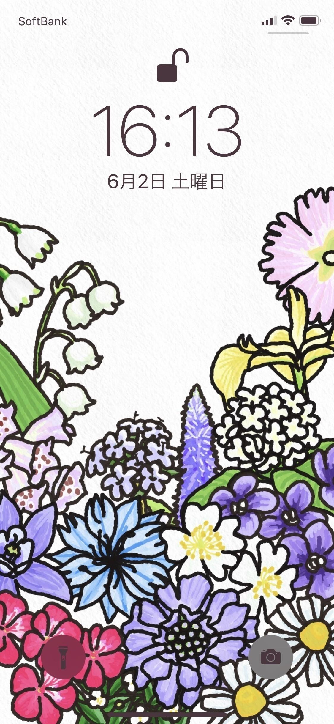 「今日のお花」を購読いただいている方の中に、スマホの壁紙にしくださっているという方がいたので、壁紙を作ってみました。ときどき作ろうかな?↓