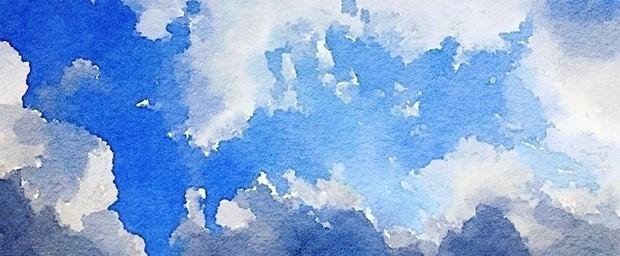 空と雲_水彩エフェクト_10