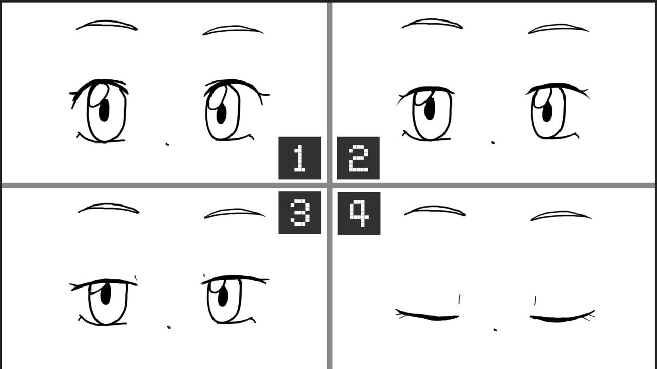 簡単まばたきアニメーションの作り方marux2note