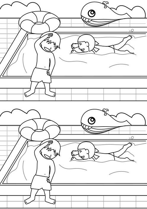 7月 プールの塗り絵幼児用無料塗り絵配信サイトぬりえワールド管理