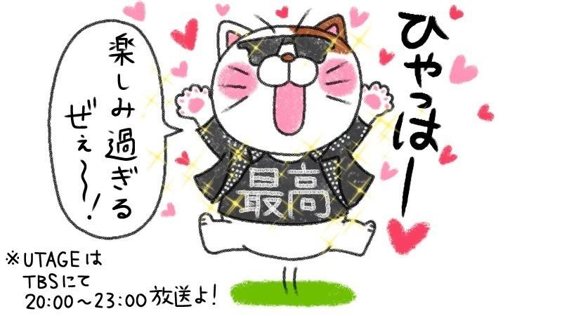 ↑6月21日 もうすぐ始まるUTAGEにテンション上がりまくりなシャツ猫。(この日、推しがTVに出たので宣伝も兼ねて) ↓6月22日 イカしたシャツを着ていることから『シャツ猫』と命名された猫。