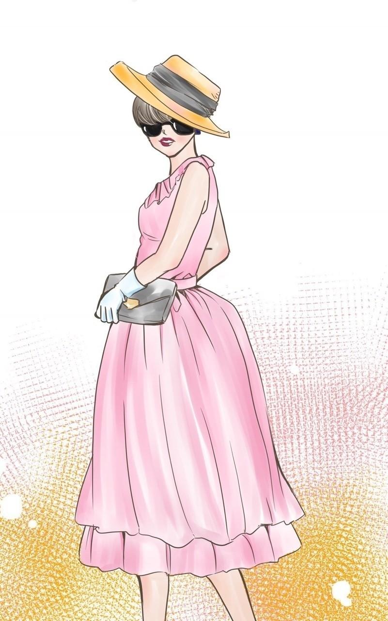 クラシカルなファッションが好きなので描きました! #イラスト #少女漫画 #漫画