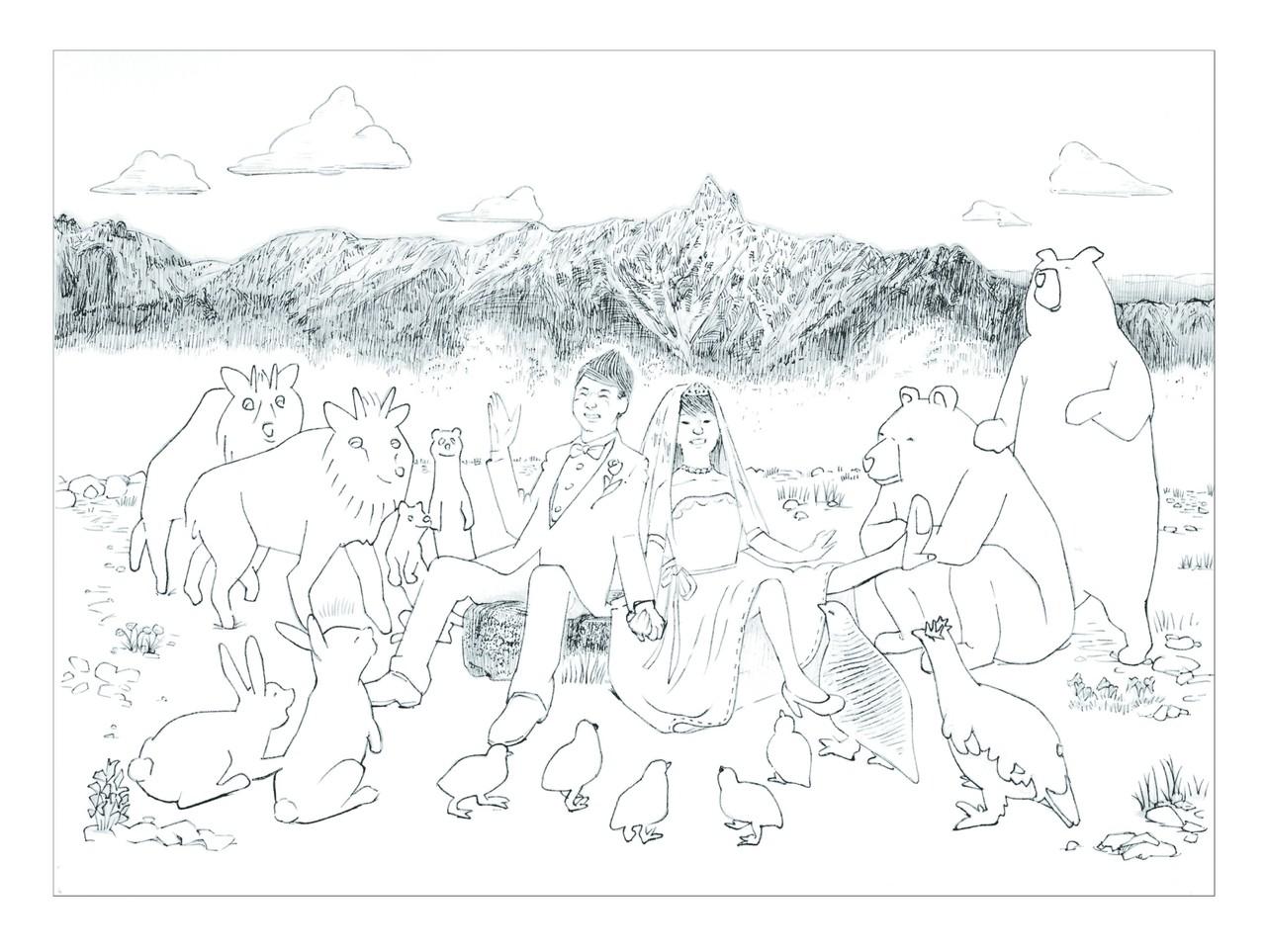 ご結婚のお祝いイラスト絵と図 デザイン吉田note