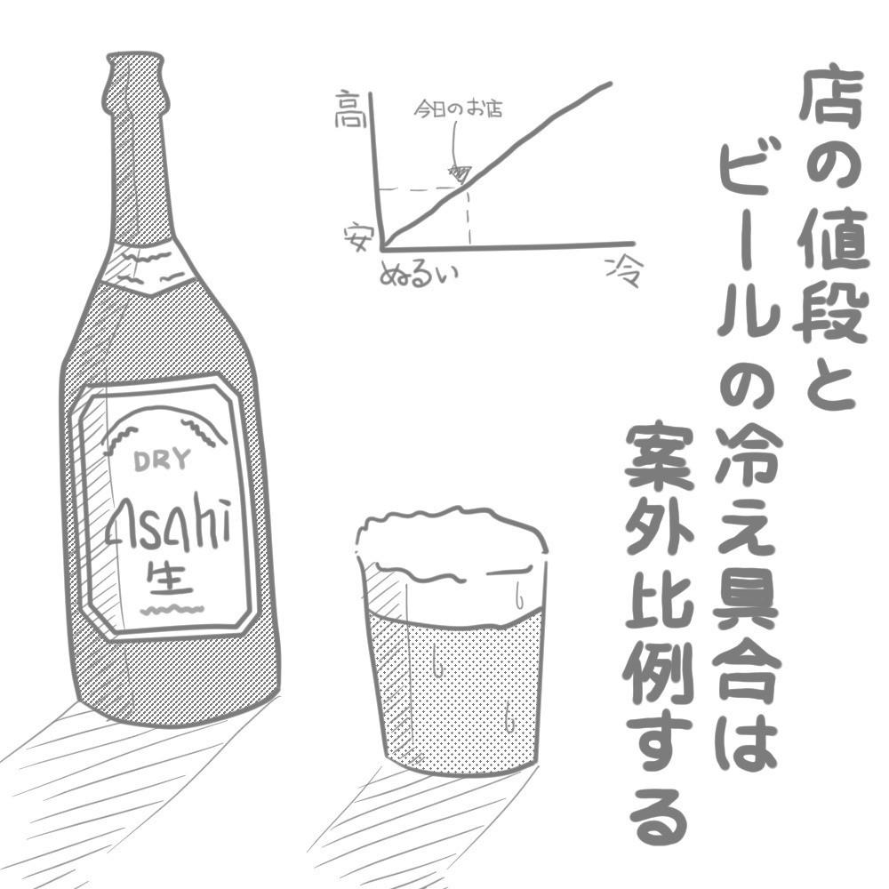 ちょっと日記(2018/07/11 ビールの冷え具合)