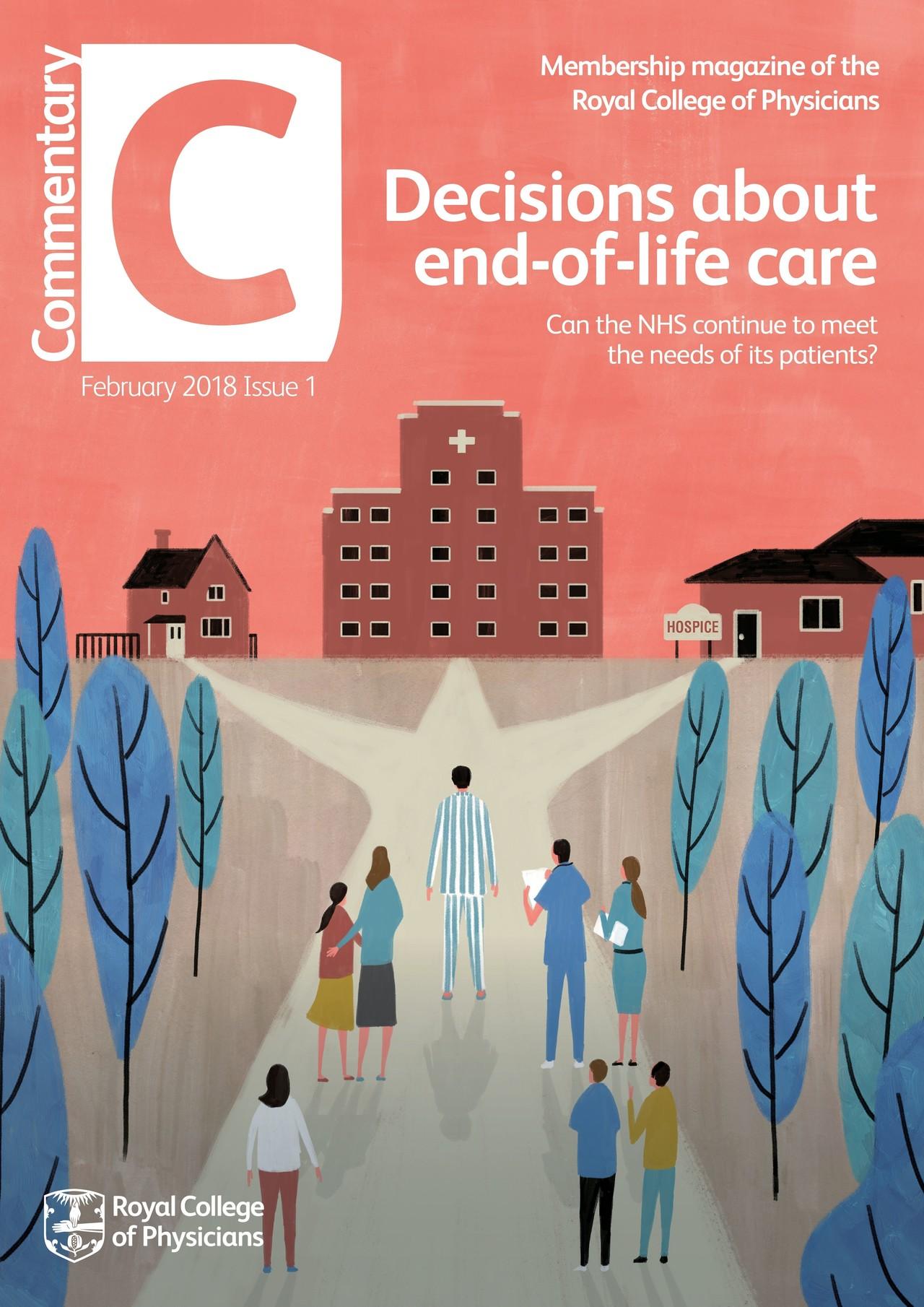 冊子表紙『COMMENTARY MAGAZINE』 (The Royal College Of Physician/王立内科医協会/イギリス)