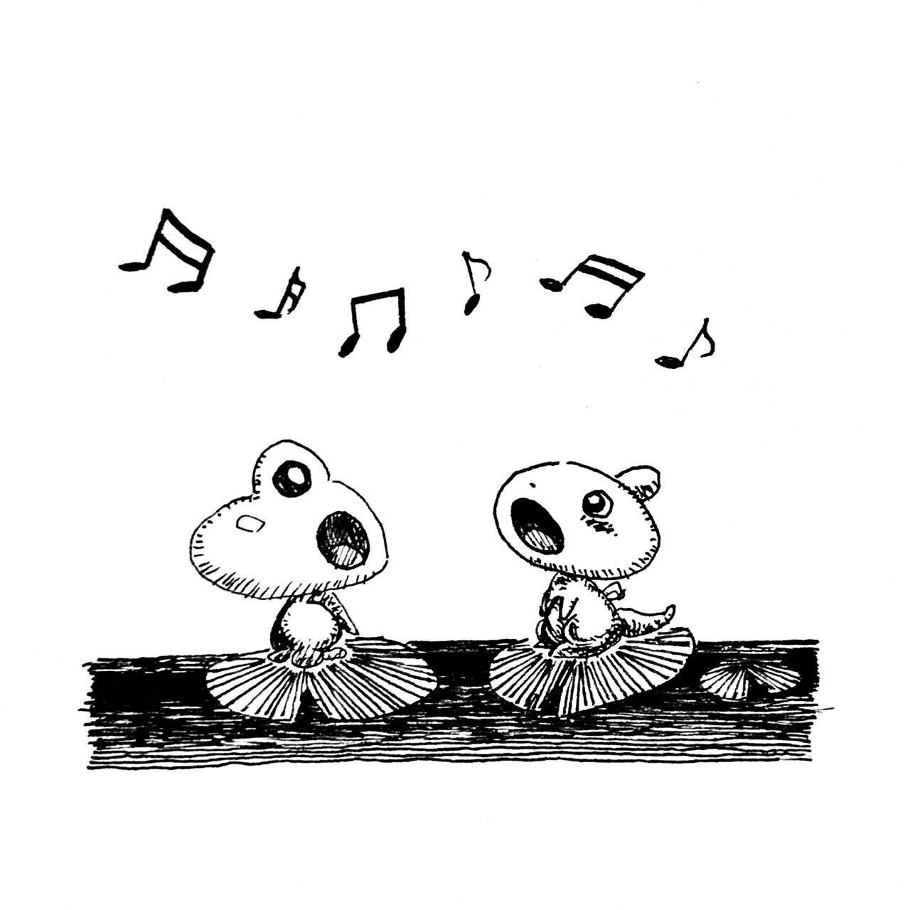 お友だちのカエルさんと歌を歌うぷちゴンmatsuぷちゴンnote