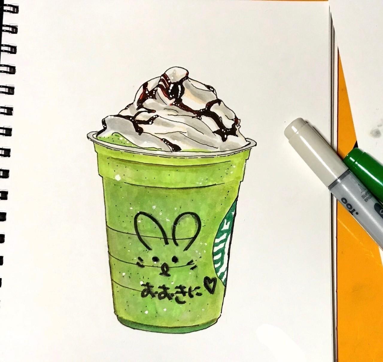 スタバの抹茶フラペチーノyamashiro Saorinote