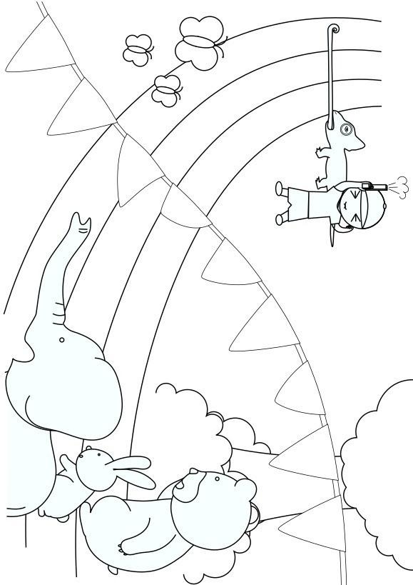 動物たちの運動会幼児用無料塗り絵配信サイトぬりえワールド管理人