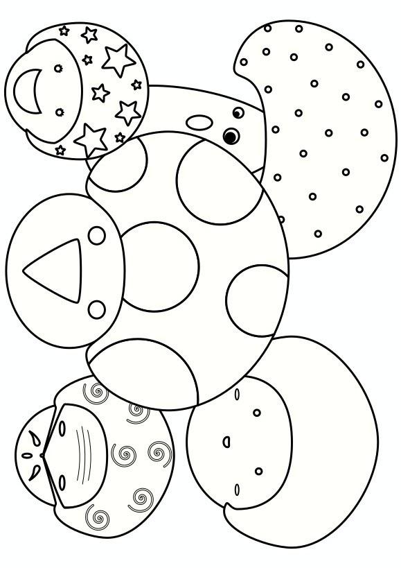 キノコファミリーの塗り絵ぬりえワールドで検索幼児用無料塗り絵