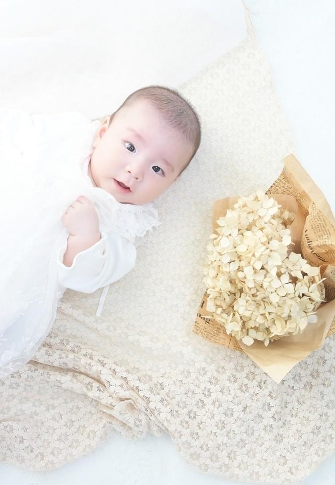 お宮参り撮影/絶えず天使の微笑みを見せてくれていた赤ちゃん。元気な笑顔もとても可愛かったです!
