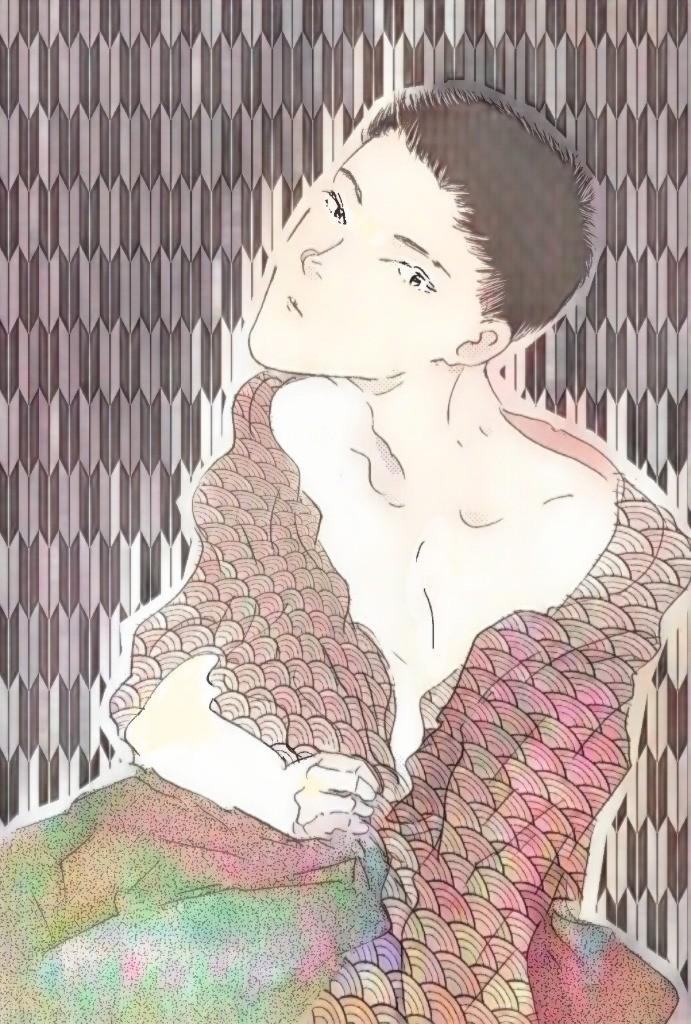 妖しい日本男児彩色1