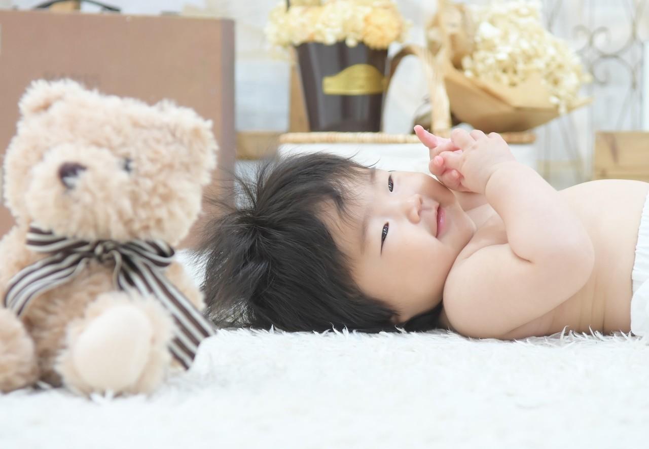 Baby撮影/何にもしなくてもずっとニコニコ笑顔ですごく楽しそうな笑顔が可愛かったです!