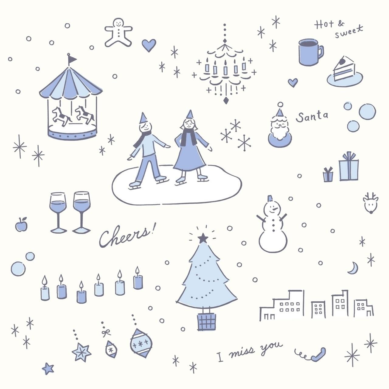 冬のしずかな空気のなかでキラキラとかがやく世界。。クリスマスシーズンは、いくつになっても、わくわくします(^^) ホワイトチョコレートやスノーボールクッキーが恋しくなる近頃。