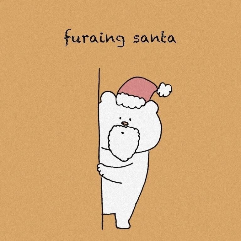 #イラスト #くま #クリスマス