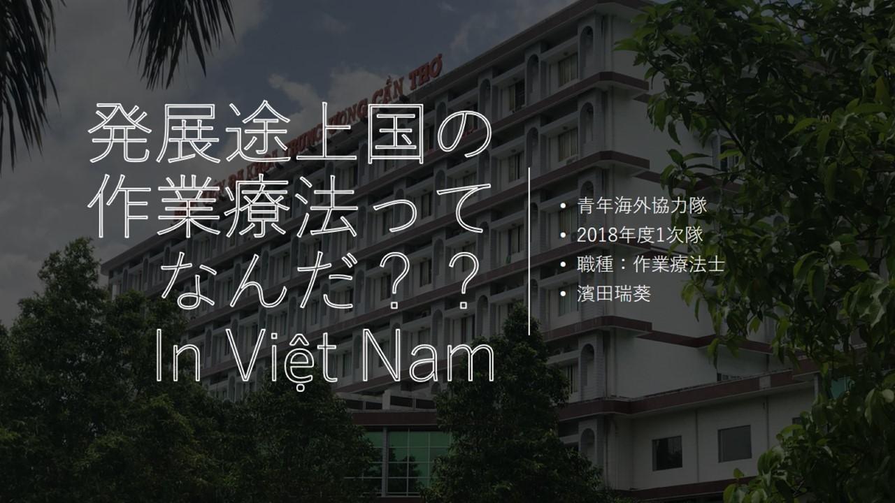 註)本資料は濱田瑞葵さんが作成しましたが、ベトナムの通信環境の問題で京極のアカウントで代理アップしています。