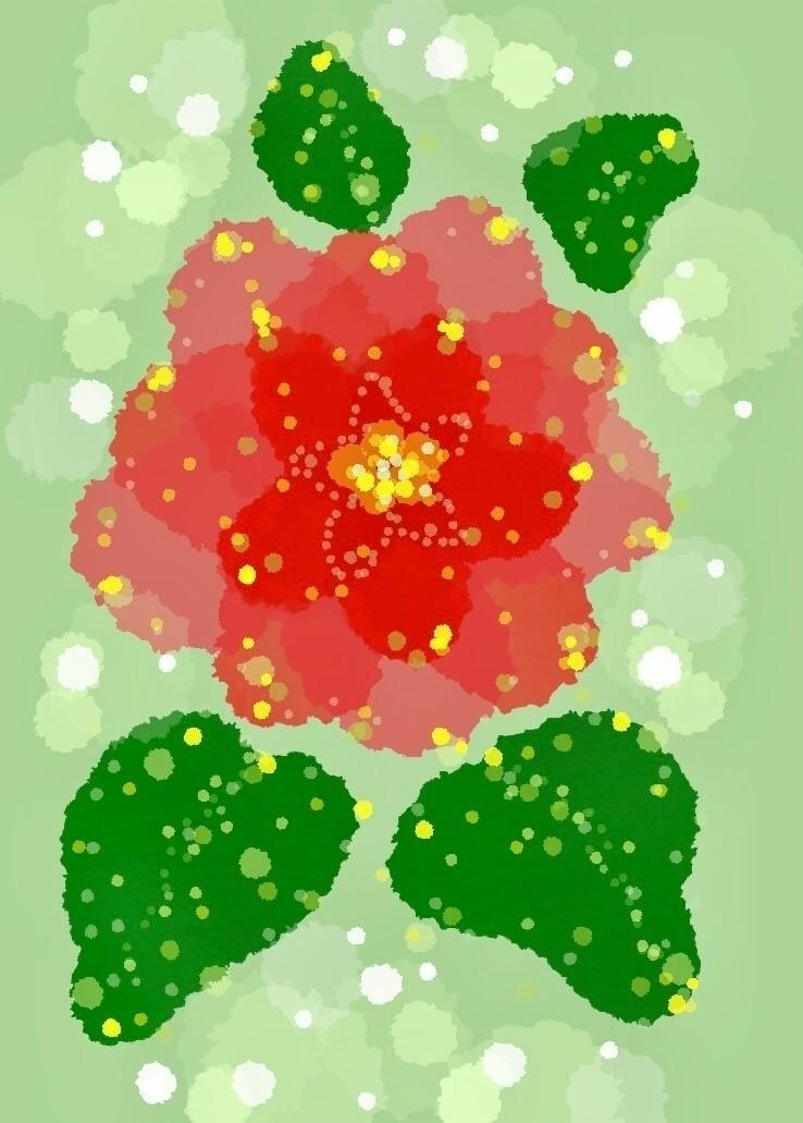 #土曜絵画 へ参加します。  ベタベタだけど やっぱクリスマスシーズンはこれだよね。 まんまで描きたくないなーと思って 水彩タッチでホワンホワンと色を乗せまくって 濃淡で葉の重なりっぽく見せてみたんだけど どーでしよ?w イマイチポインセチアの鮮やかな赤が感じられなかったんで キラキラをデコって誤魔化したのでしたw   #ポインセチア #花 #水彩風 #アプリ絵 #クリスマス #拙くてすまない