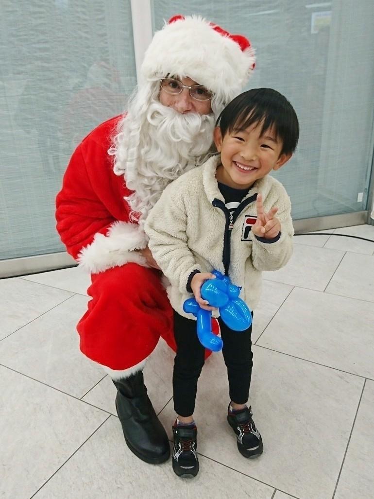 サンタクロースと息子