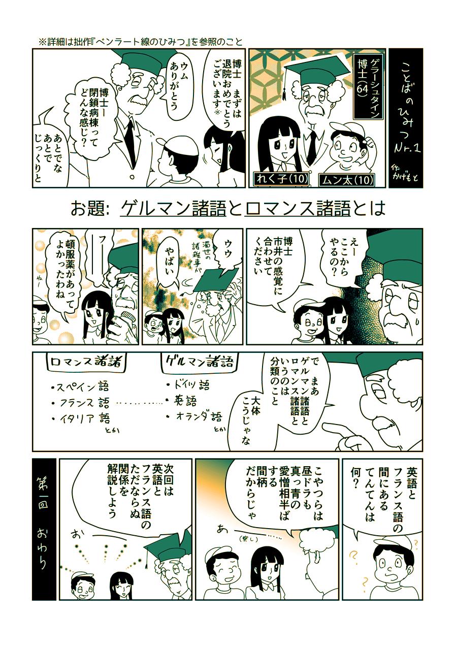 1ページ完結語学漫画・Nr.1