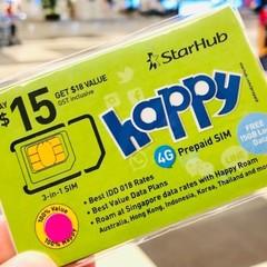 StarHub SIM Happy Roam 東南アジアなど世界18カ国対応ローミング(500円