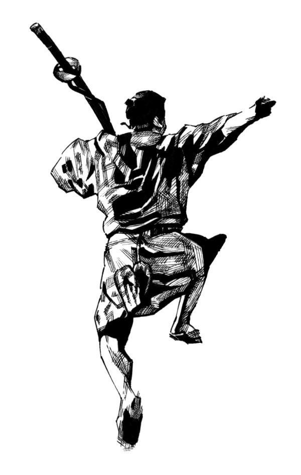 """映画""""七人の侍""""より菊千代(三船敏郎)"""