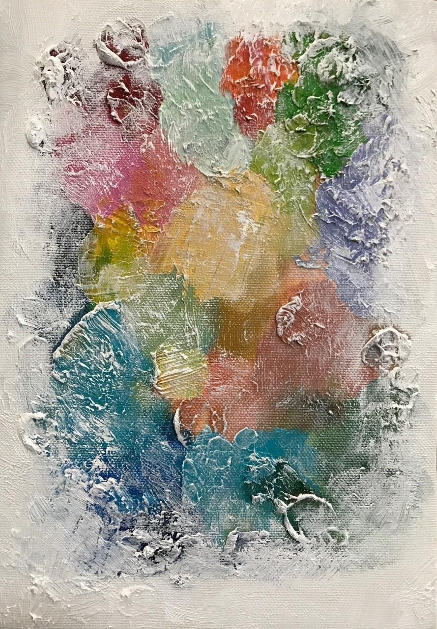 新しい痕跡ができました。 パレットはもうひとつの遺産  #油絵 #油彩画 #油絵具 #パレット #アート #痕跡